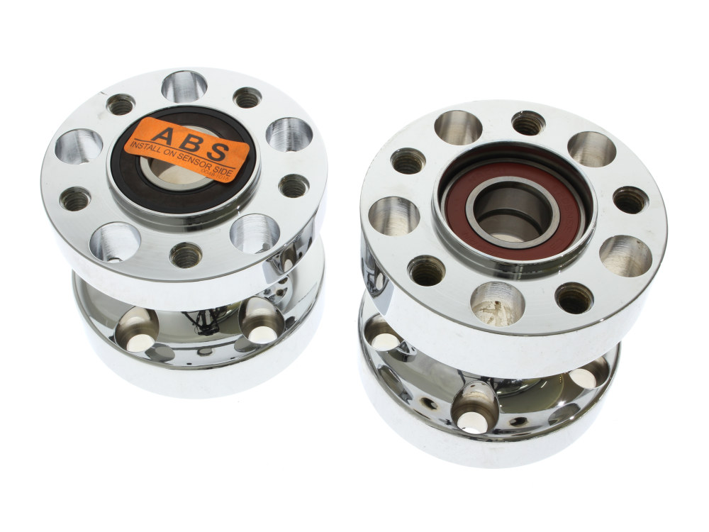 Rear Wheel Hub with Chrome Finish. Fits Dyna 2012-2017 with ABS & Heartland HL-240D Wide Tyre Kit.