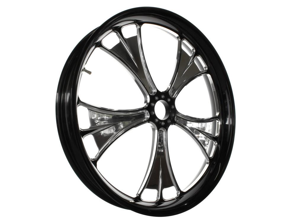23in. x 3.50in. wide Gasser Wheel – Black Contrast Cut Platinum.