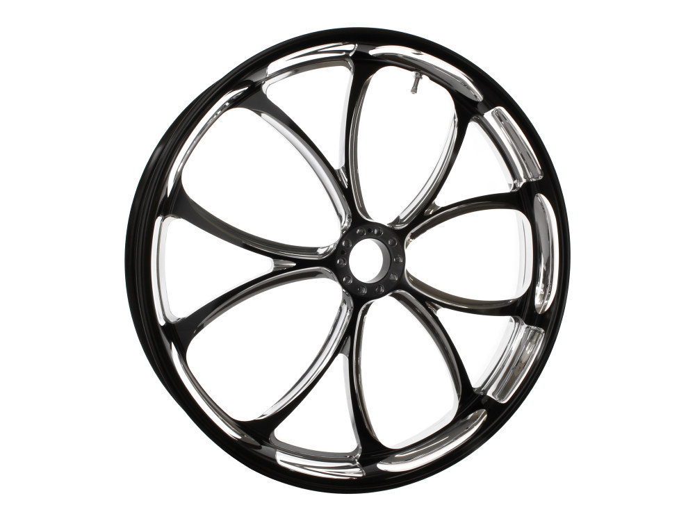 23in. x 3.50in. wide Luxe Wheel – Black Contrast Cut Platinum.