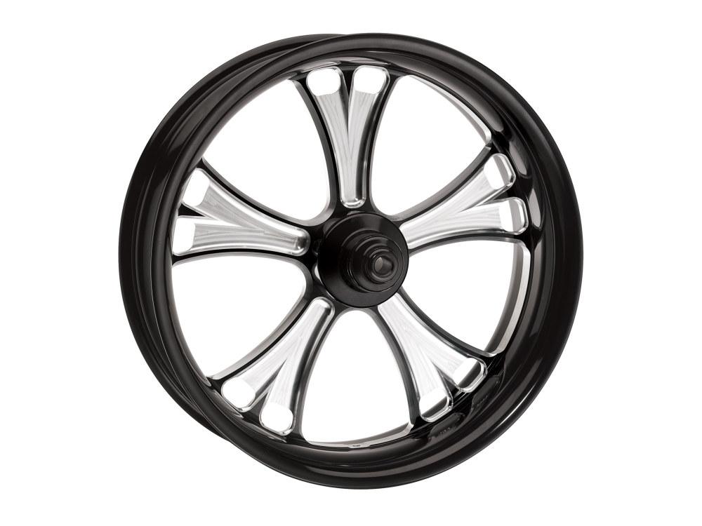 18in. x 3.50in. wide Gasser Wheel – Black Contrast Cut Platinum.
