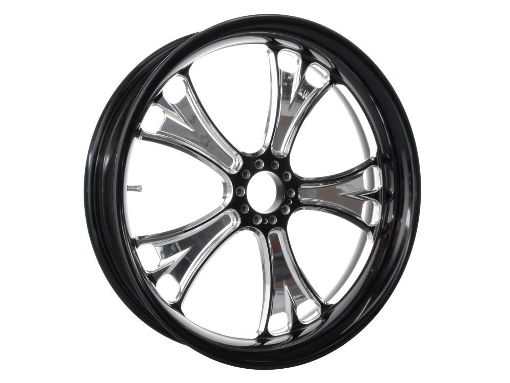 16in. x 5.00in. wide Gasser Wheel – Black Contrast Cut Platinum.