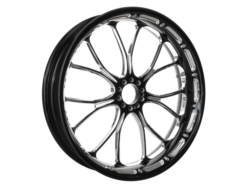 18in. x 5.50in. wide Heathen Wheel – Black Contrast Cut Platinum.