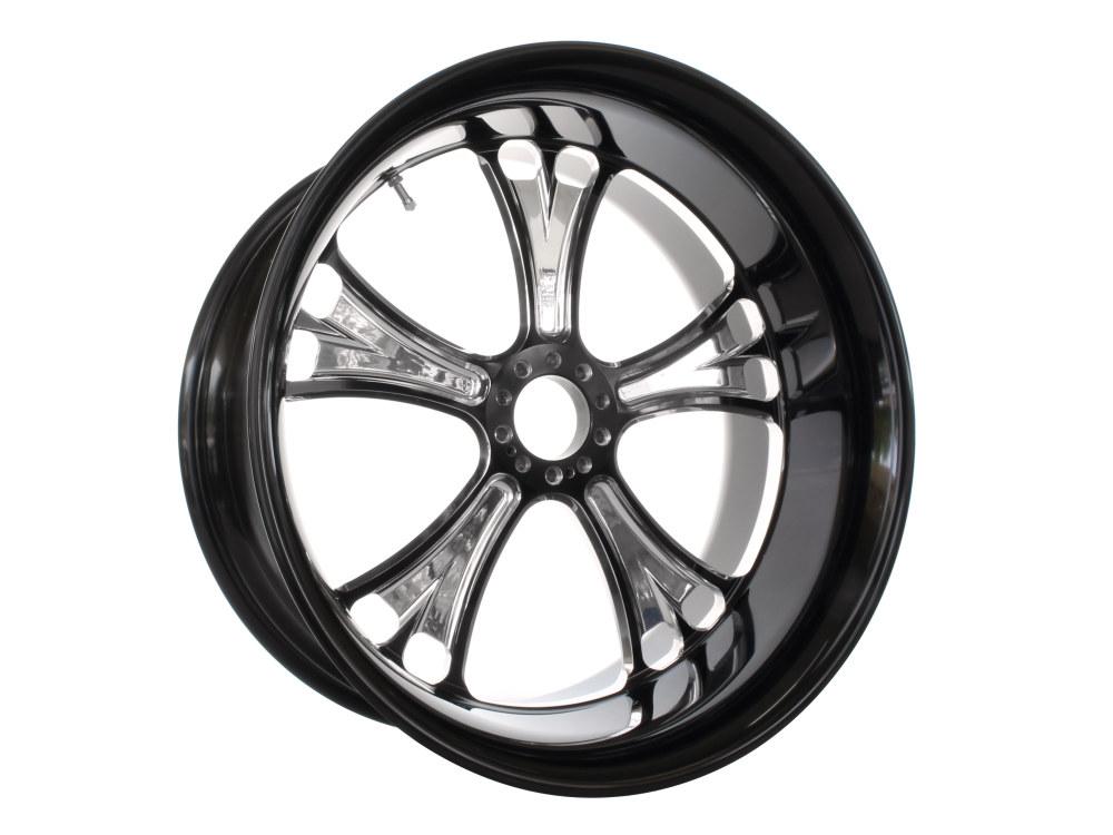 18in. x 8.50in. wide Gasser Wheel – Black Contrast Cut Platinum.