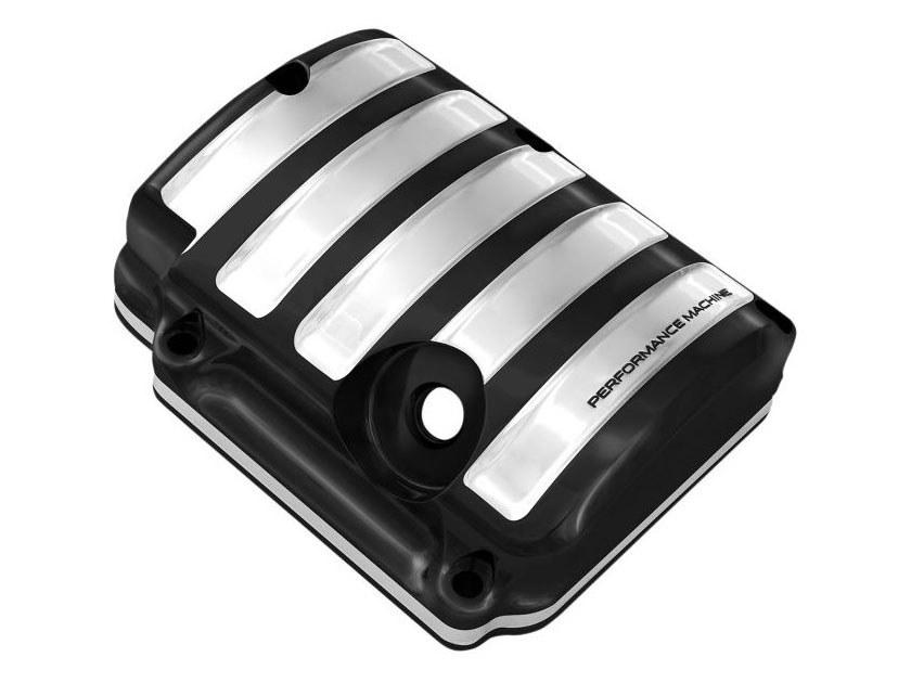 Drive Transmission Top Cover – Black Contrast Cut Platinum. Fits 5Spd Twin Cam 2000-2006.