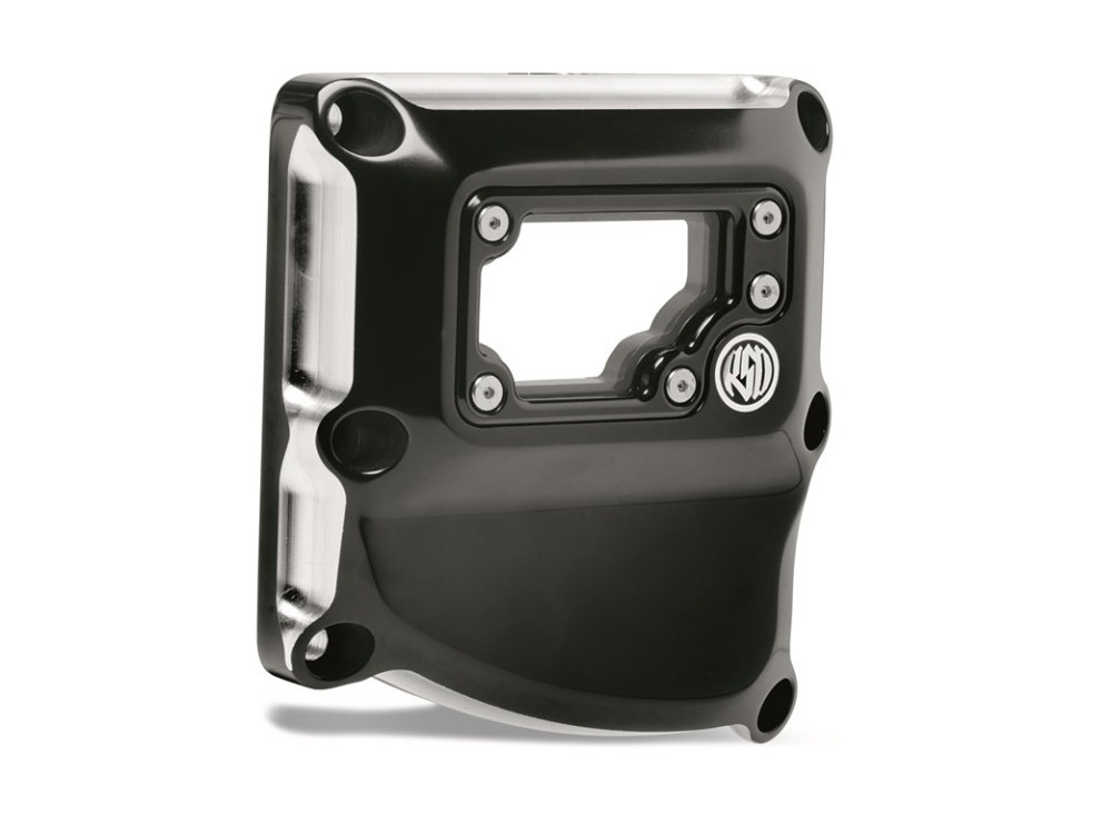 Clarity Transmission Top Cover – Black Contrast Cut. Fits Touring 2017up & Softail 2018up.