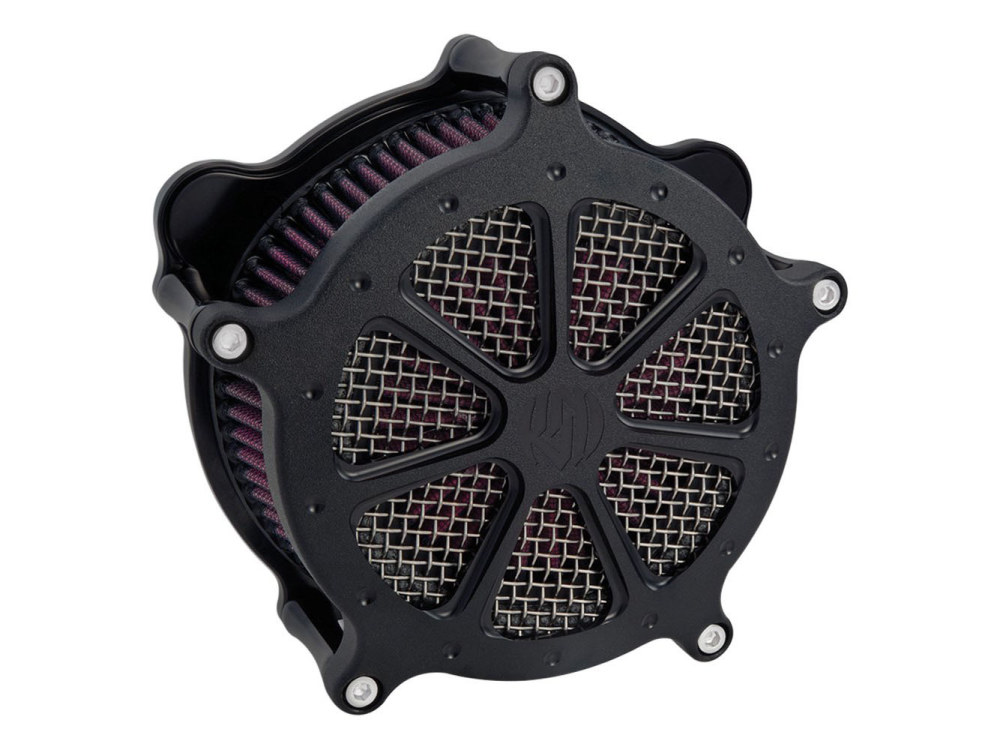 Performance Machine Air Filter Assembly; Twin Cam'08-17 with TBW & Twin Cam'06-17 with Screaming Eagle 58mm Throttle Body Upgrade. RSD Speed 7 with High Flow Element & Black Ops Finish.