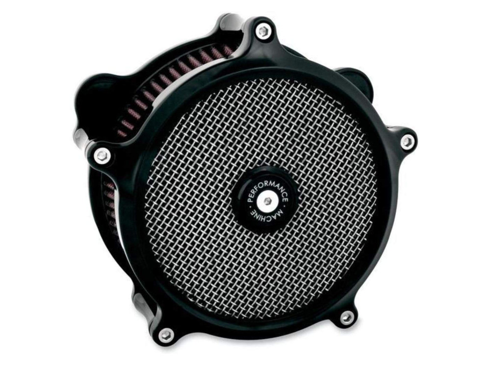 Air Filter Assembly; Sportster'91up. Super Gas with High Flow Element & Black Finish.