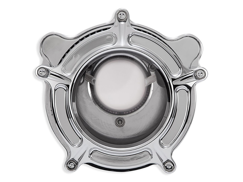 Roland Sands Clarion Air Filter Assembly; Sportster'91up. High volume best in filtration K&N Air Filter included. Chrome Finish