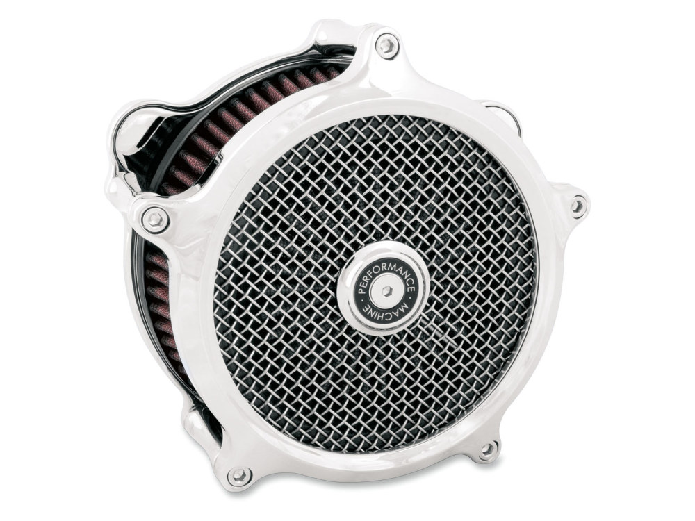 Super Gas Air Cleaner Kit – Chrome. Fits Big Twins 1993-2017 with CV Carb or Cable Operated Delphi EFI.