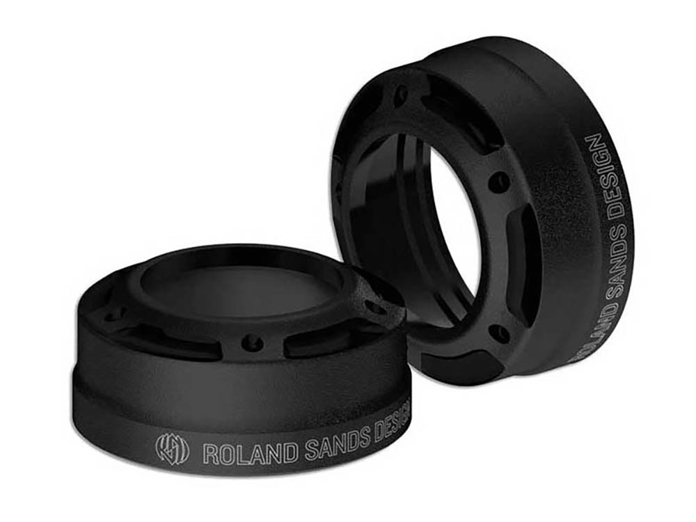 Fork Dust Caps; 49mm MisanoDyna'06up Black Ops  (Exc FLD)