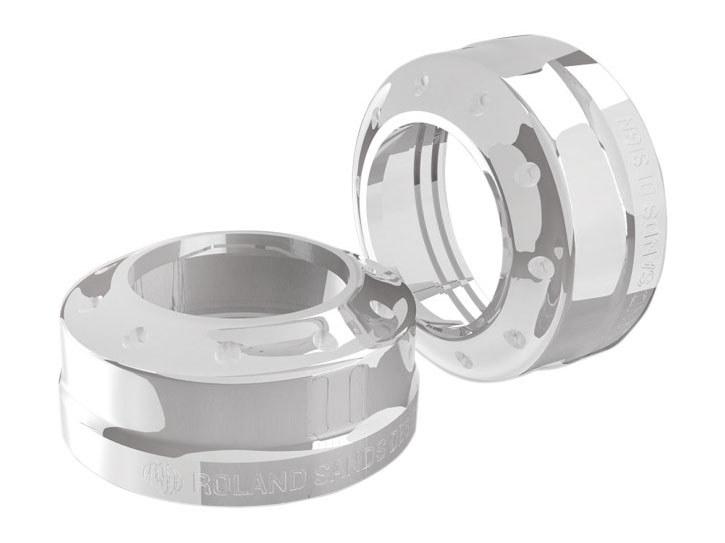 Fork Dust Caps; 49mm TrackerDyna'06up Chr (Exc FLD)