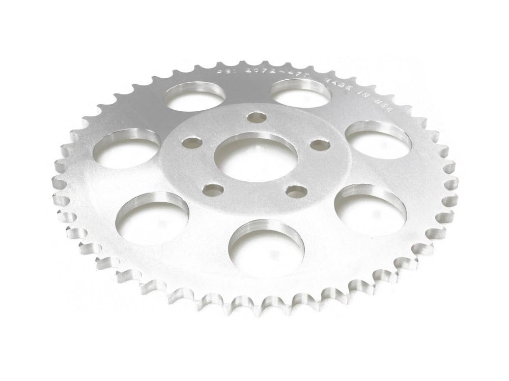 Rear Chain Sprocket, BT'73-99 4spd XL'79-81 47T 6mm Offset Plain Finish