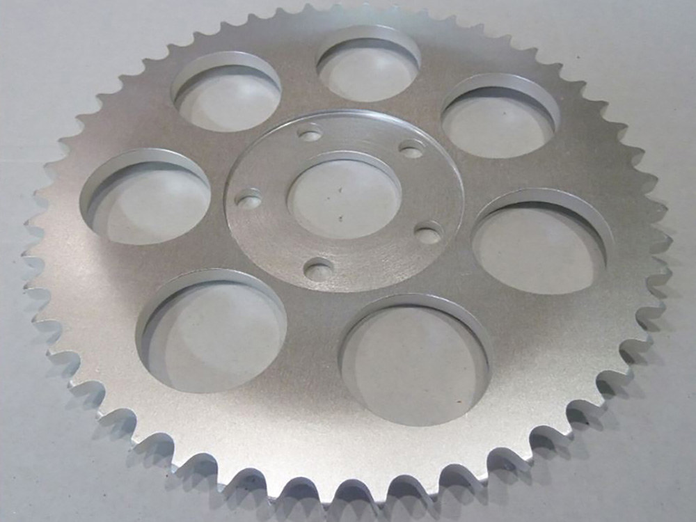 Rear Chain Sprocket, BT'73-99 4spd XL'79-81 48T 6mm Offset Plain Finish