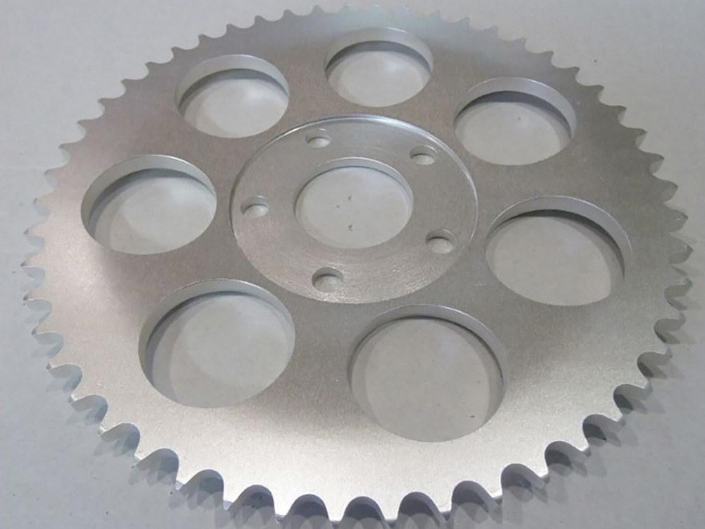 Rear Chain Sprocket, BT'73-99 4spd XL'79-81 51T 6mm Offset Plain Finish