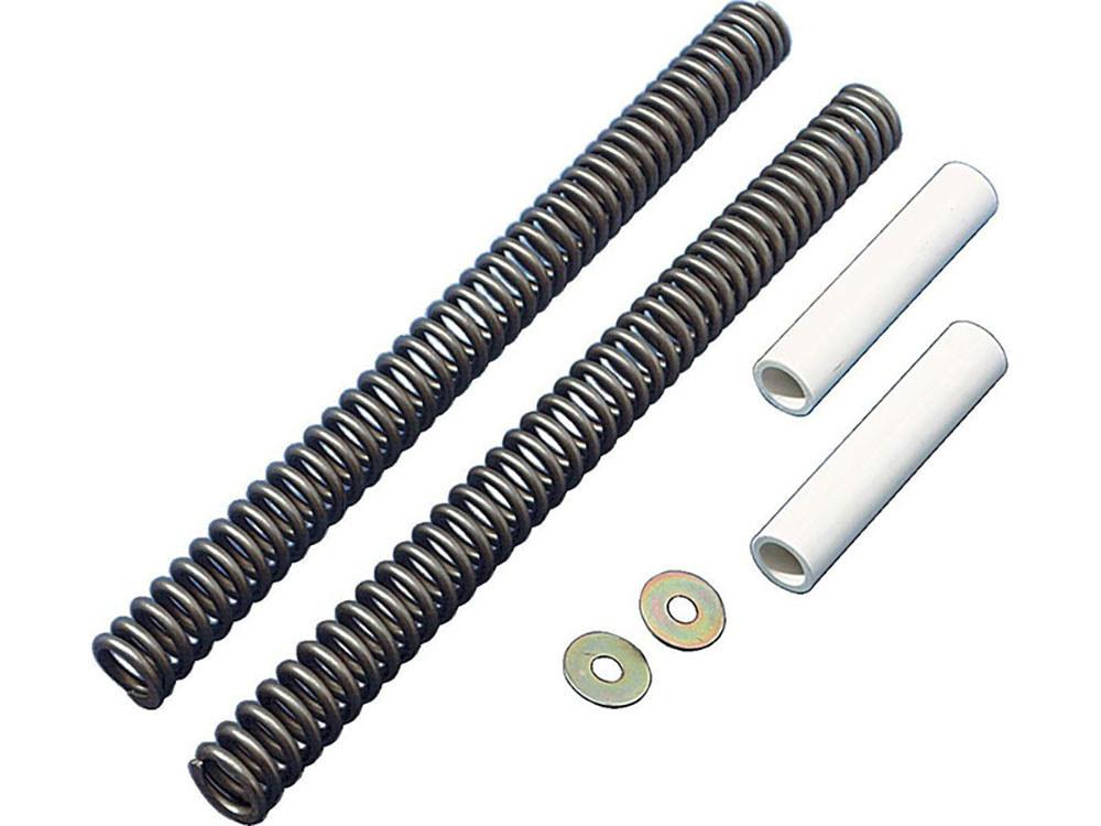 Fork Spring Kit for 41mm Fork Tubes. Fits Softail'1984-2017, FL'1949-2013, Dyna Wide Glide'1993-2005 & FXWG'1980-1986 Models. Standard Spring Rate.
