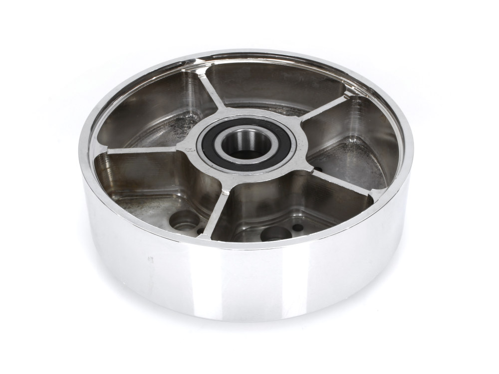 Rear Wheel Hub with Chrome Finish. Fits Ride Wright Spoke Wheel on Street 500 & Street 750 2015up Models with ABS & OEM Cush Drive.