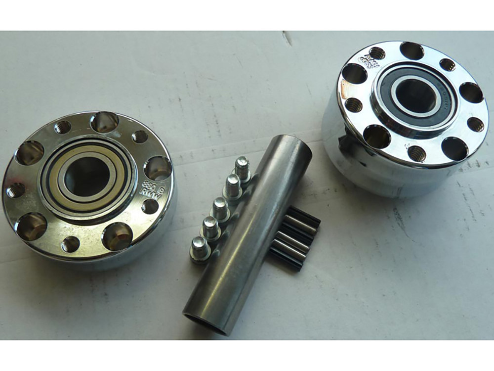 Rear Wheel Hub with Chrome Finish. Fits Ride Wright Spoke Wheel on Dyna 2012up & Touring 2008 with ABS & 25mm Axle.