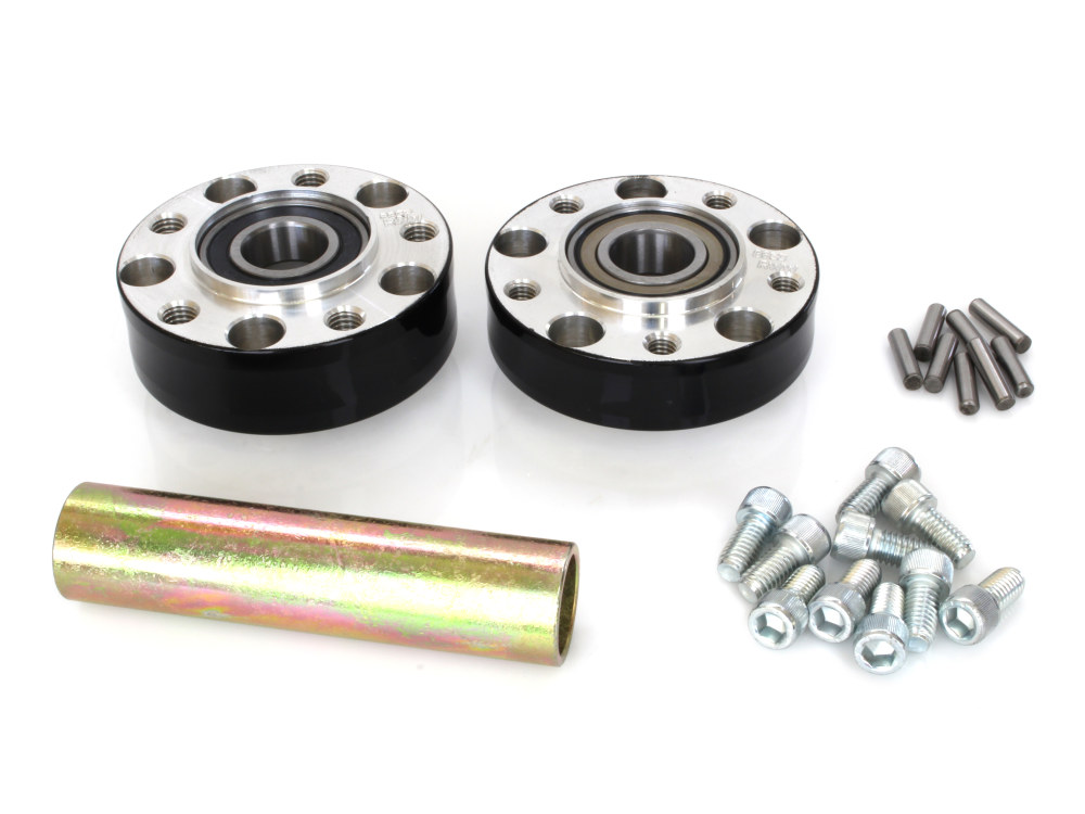 Rear Wheel Hub with Black Finish. Fits Ride Wright Spoke Wheel on Sportster 2014up with ABS.