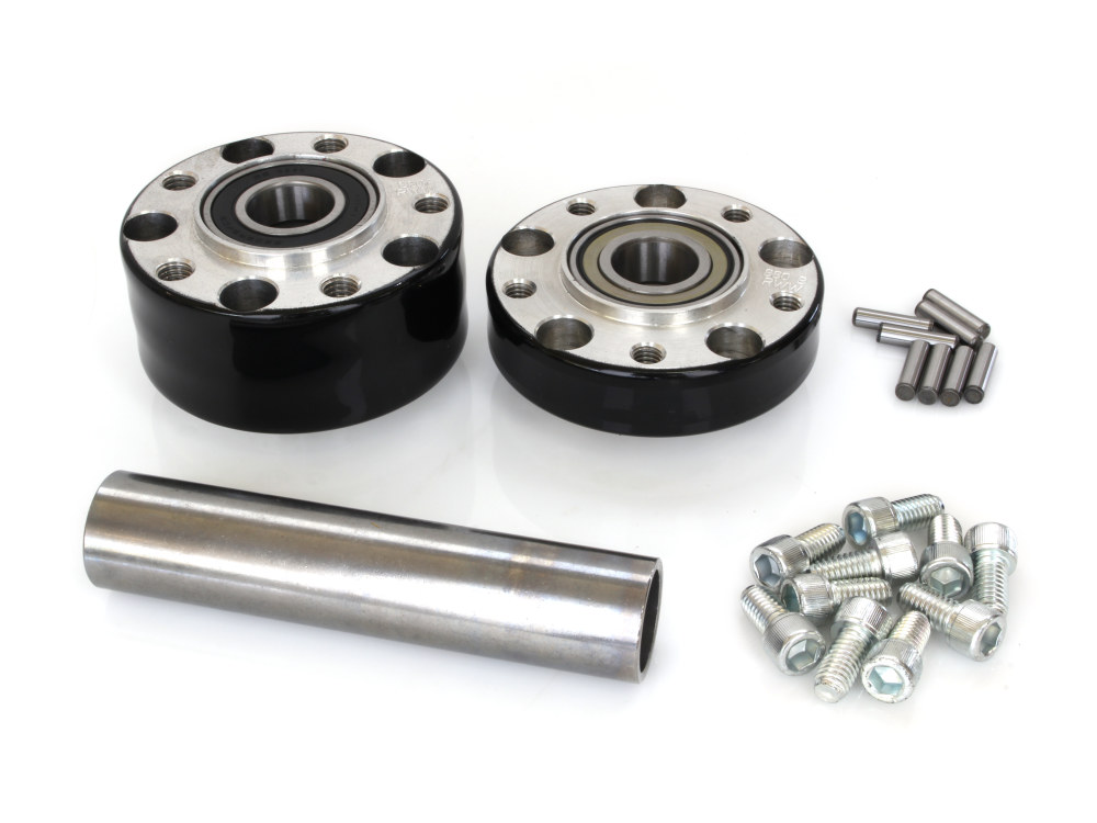 Rear Wheel Hub with Black Finish. Fits Ride Wright Spoke Wheel on Softail 2011up with ABS.