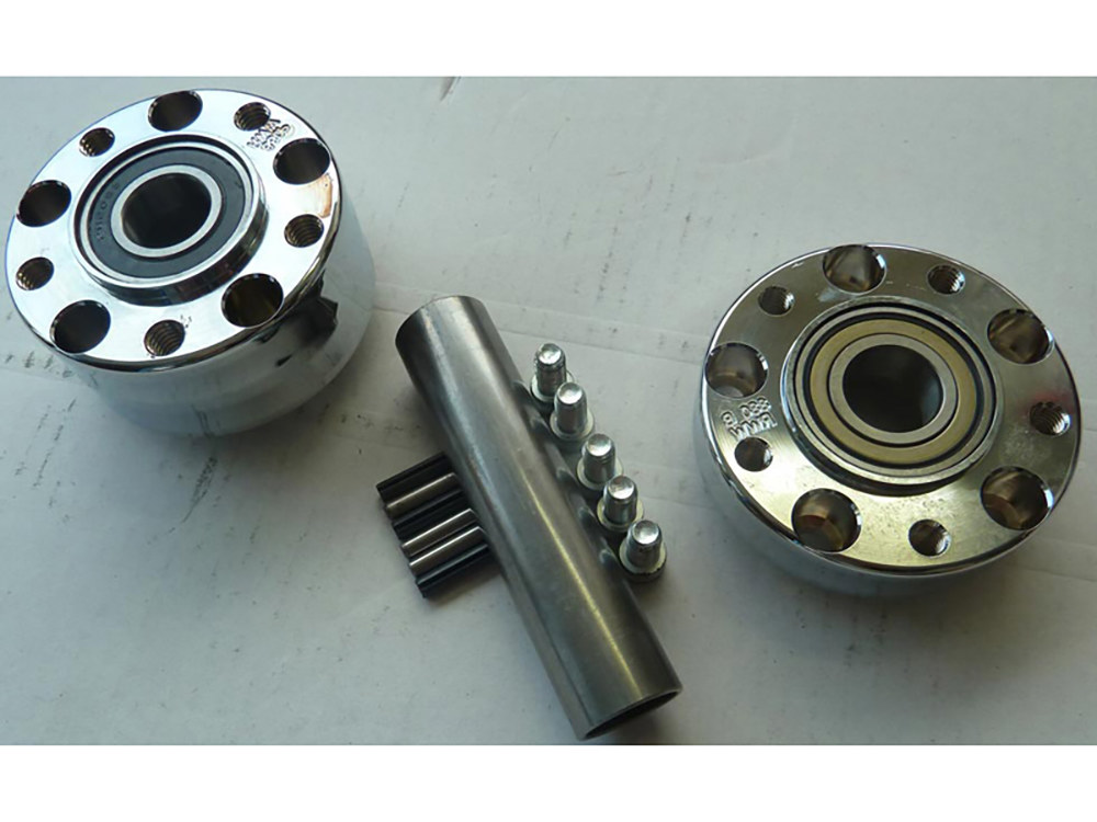 Rear Wheel Hub with Chrome Finish. Fits Ride Wright Spoke Wheel on Softail 2011up with ABS.