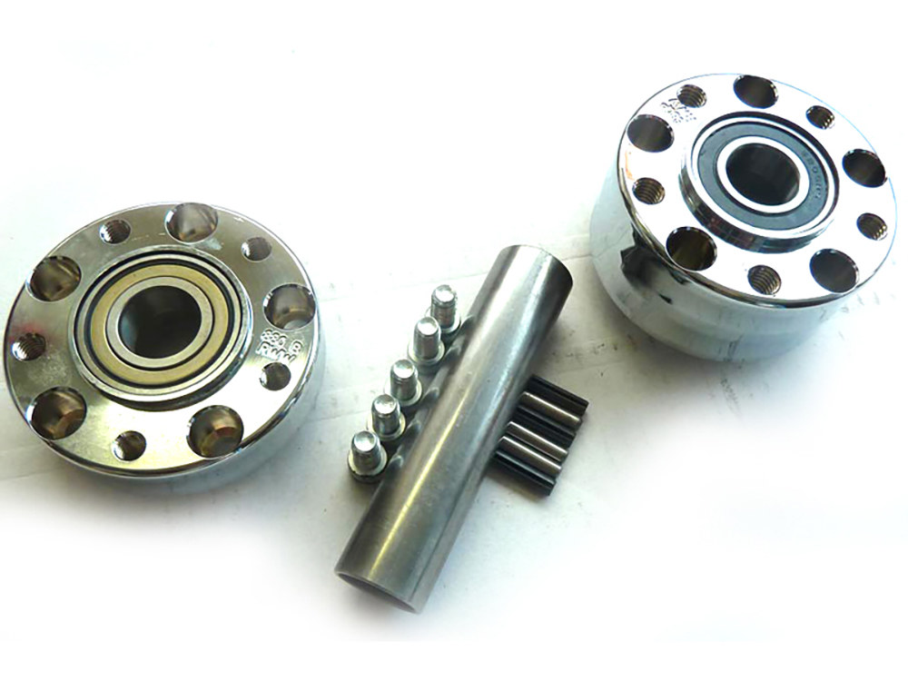 Rear Wheel Hub with Chrome Finish. Fits Ride Wright Spoke Wheel on Rocker/C 2011 & Breakout 2013up Models with ABS.