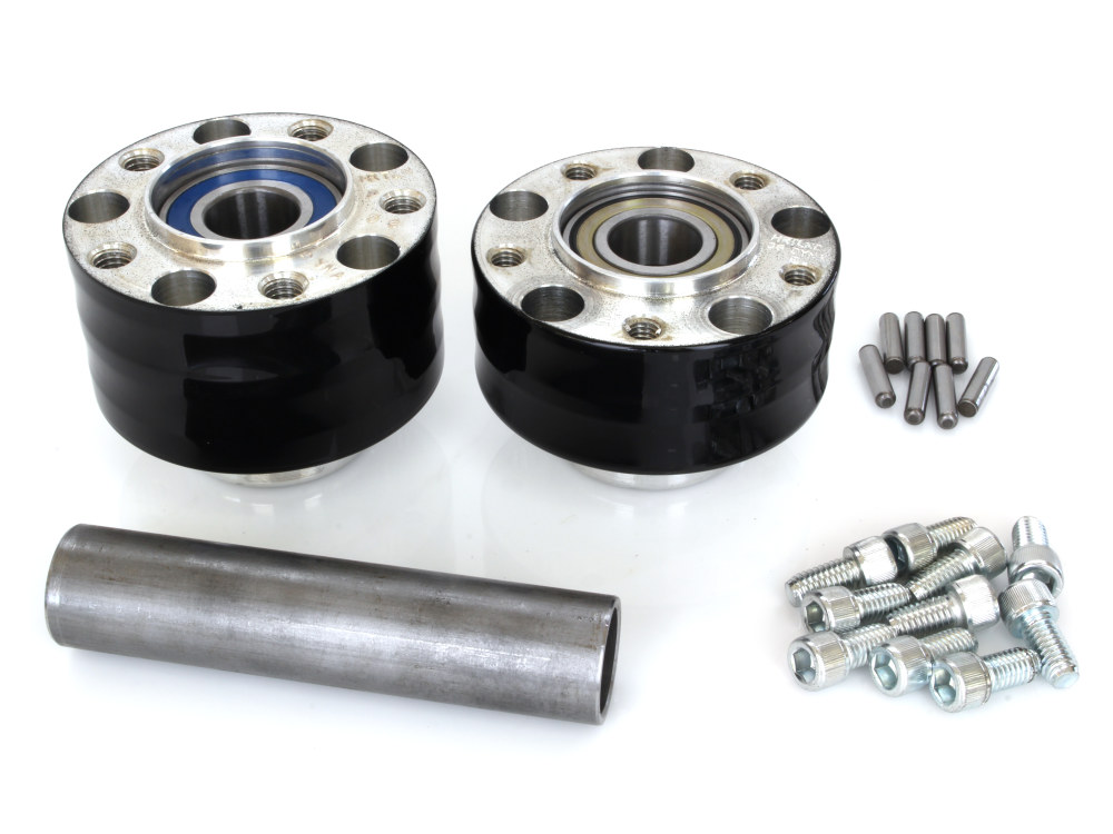 Rear Wheel Hub with Black Finish. Fits Ride Wright Spoke Wheel on Dyna 2012up with ABS & Heartland HL-240D, 240 Rear Tyre Kit.