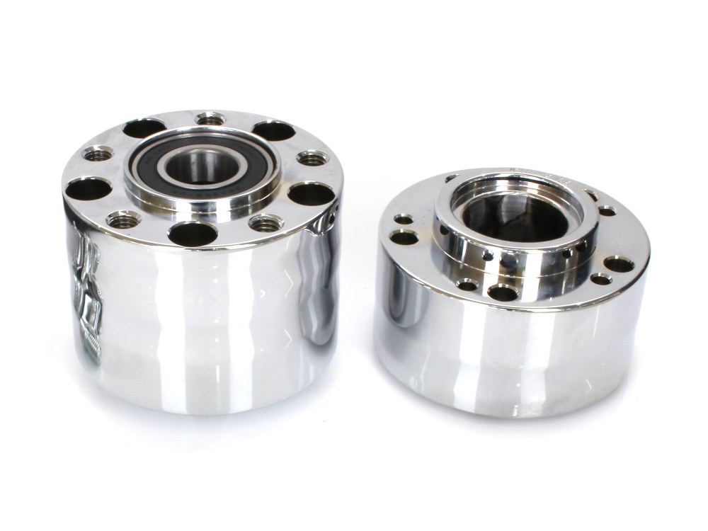 Rear Wheel Hub with Chrome Finish. Fits Ride Wright Spoke Wheel on Breakout & Fatboy 2018up Models with 240 Rear Tyre & ABS.