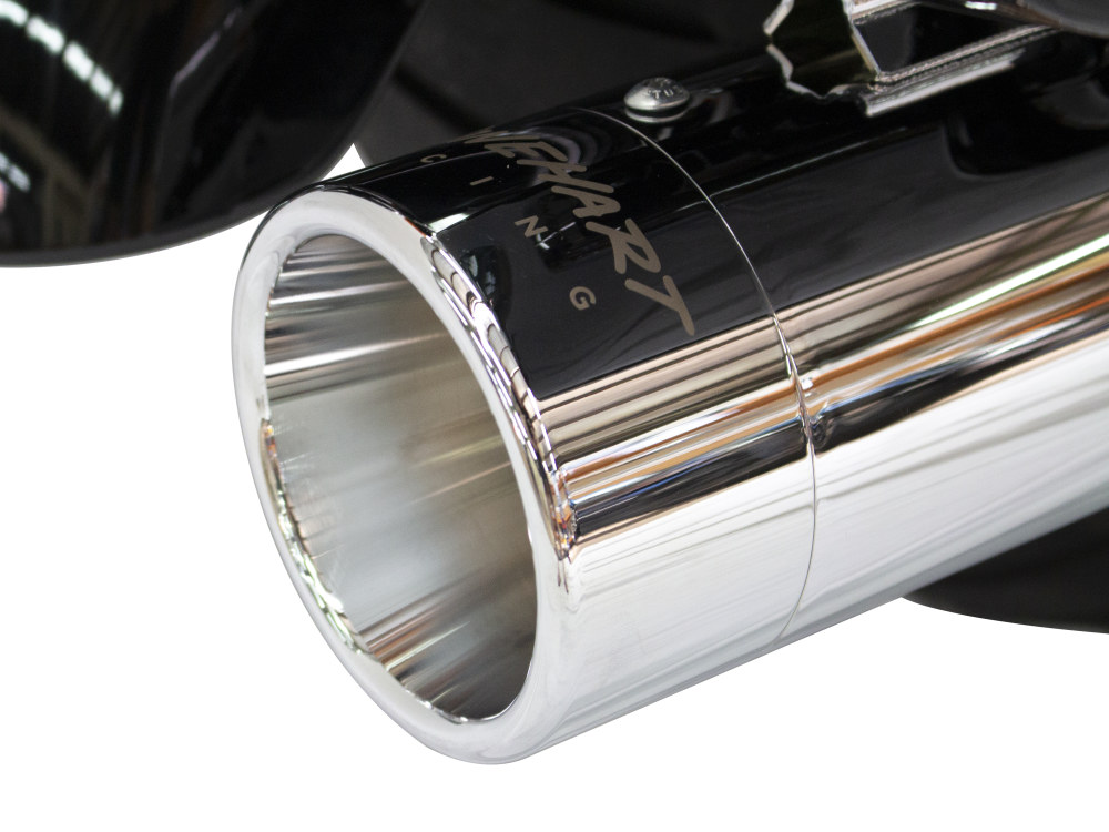 2-into-1 Exhaust - Chrome with Chrome End Cap. Fits Touring 2017up.