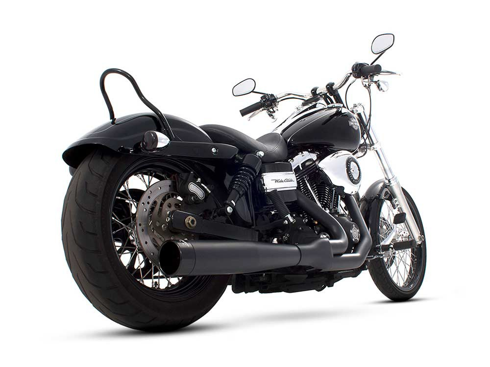 2-into-1 Exhaust with Black Finish & Black End Cap. Fits Dyna 2006-2017.
