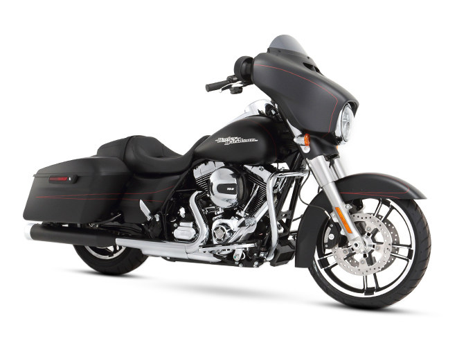 4in. Slip-On Mufflers - Black with Chrome End Caps. Fits Touring 1995-2016 & Trike 2017-2020.