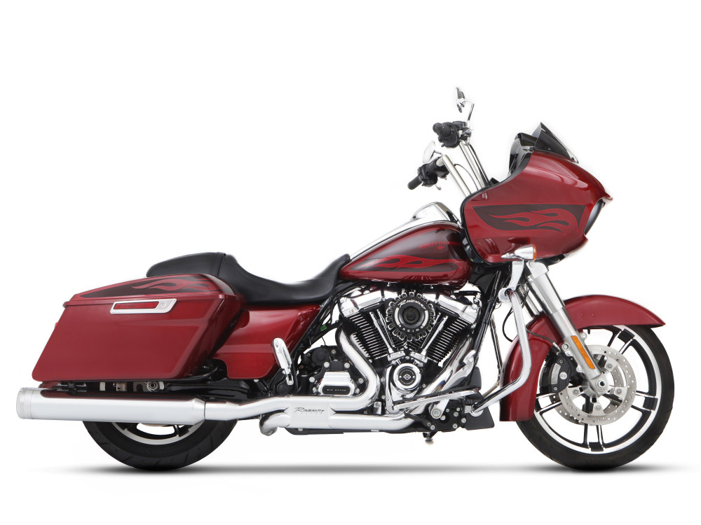 4-1/2in. MotoPro 45 Traditional Slip-On Mufflers - Chrome with Chrome End Caps. Fits Touring 2017up.