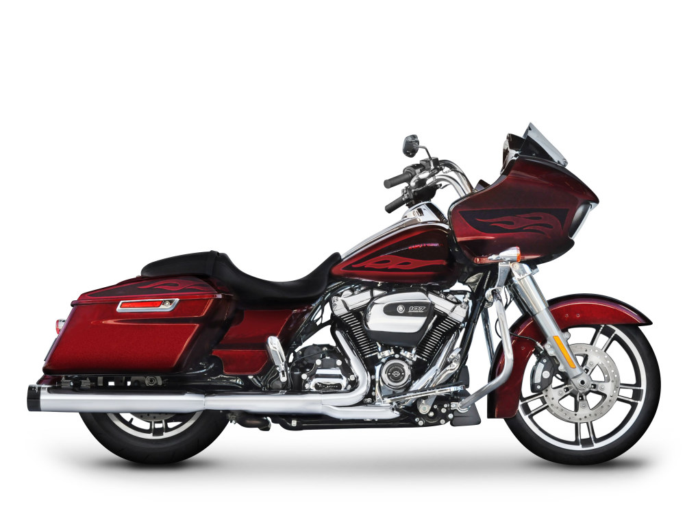 4in. DBX40 Slip-On Mufflers  - Chrome with Black End Caps. Fits Touring 2017up.