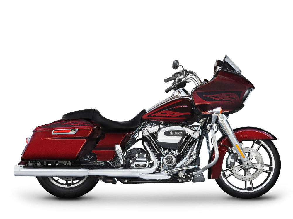 4in. DBX40 Slip-On Mufflers  - Chrome with Chrome End Caps. Fits Touring 2017up.