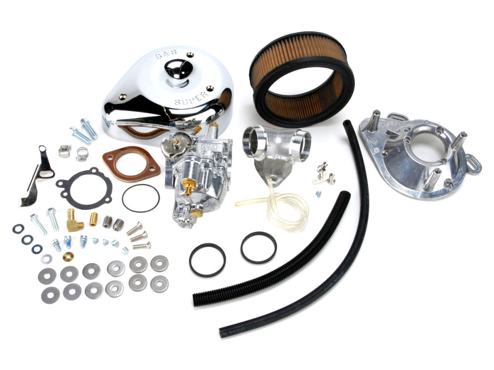 Super E Carburetor Kit. Fits Big Twin 1984-1992.