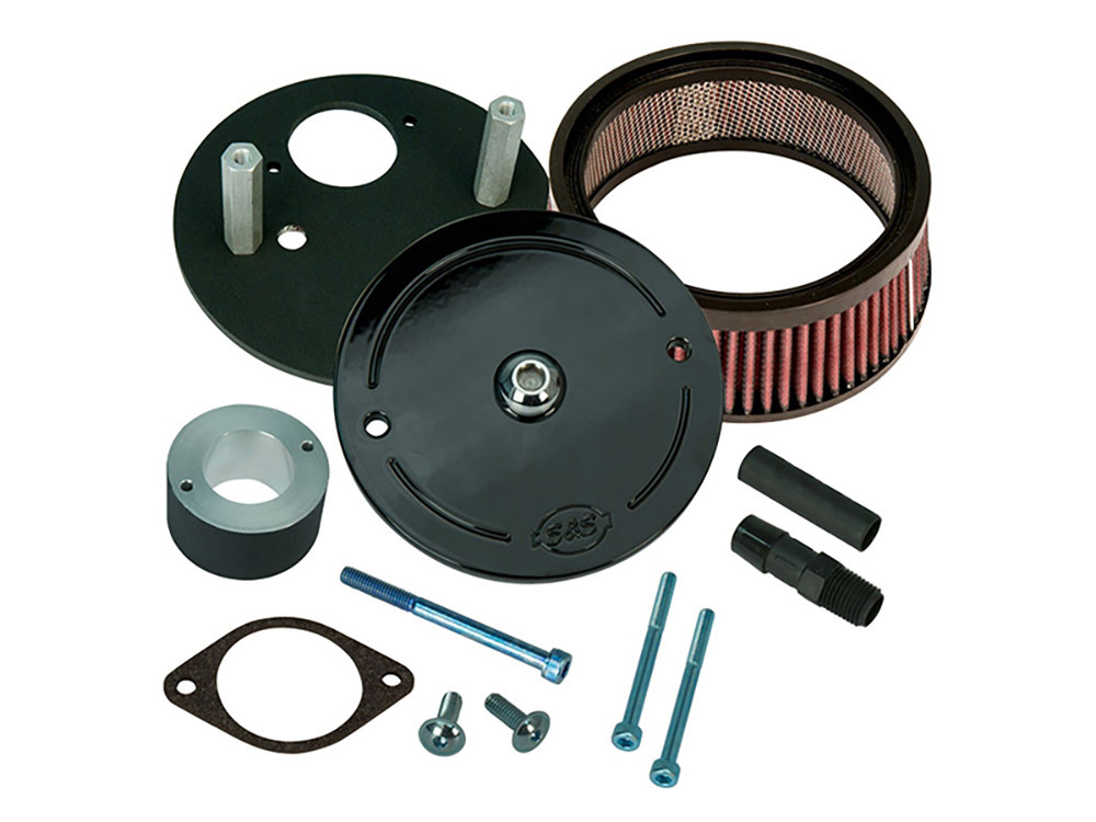 S&S Air Filter Assembly; Street 500'15up. Stealth with High Flow Element.  Excludes Street Rod Models