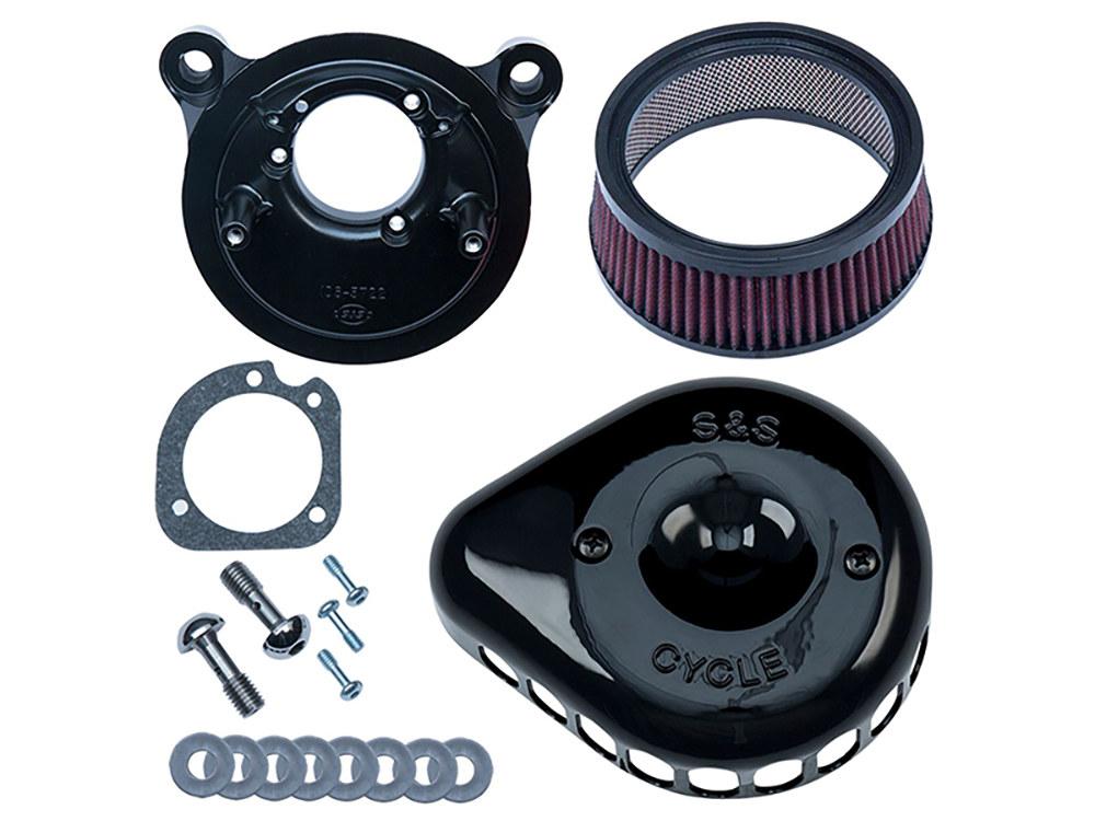 A/Filter; Mini Teardrop, XL'91-06, CV Carb, Black Cover