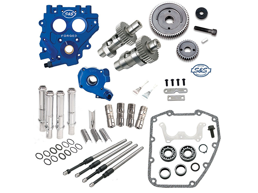Cam Chest Kit with 585 Gear Drive Easy Start Cams. Fits Twin Cam 1999-2006.