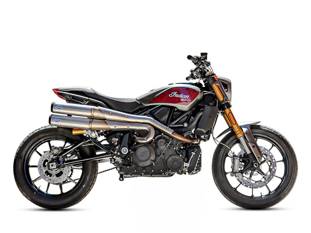 Grand National 2-into-2 High Exhaust - Stainless Steel. Fits Indian FTR1200 2019up.