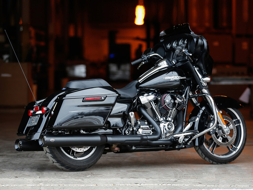 4.5in. GNX Slip-On Mufflers - Black with Black End Caps. Fits Touring 2017up.