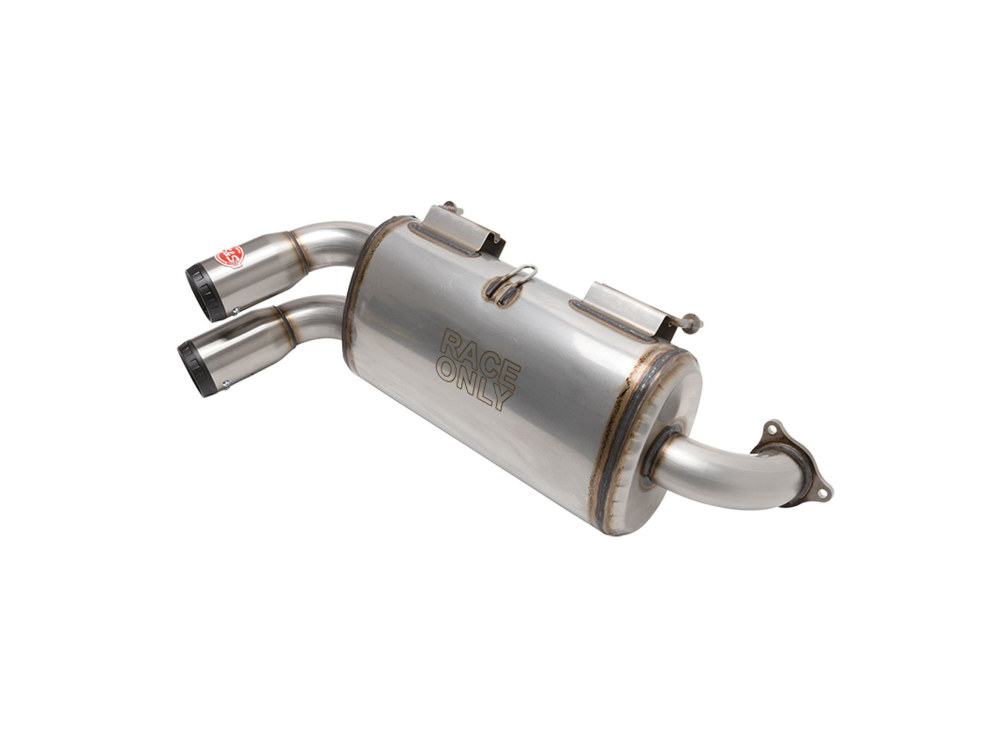Power Tune XTO Exhaust - Stainless Steel with Race Muffler. Fits Polaris RZR Pro XP 2020up.