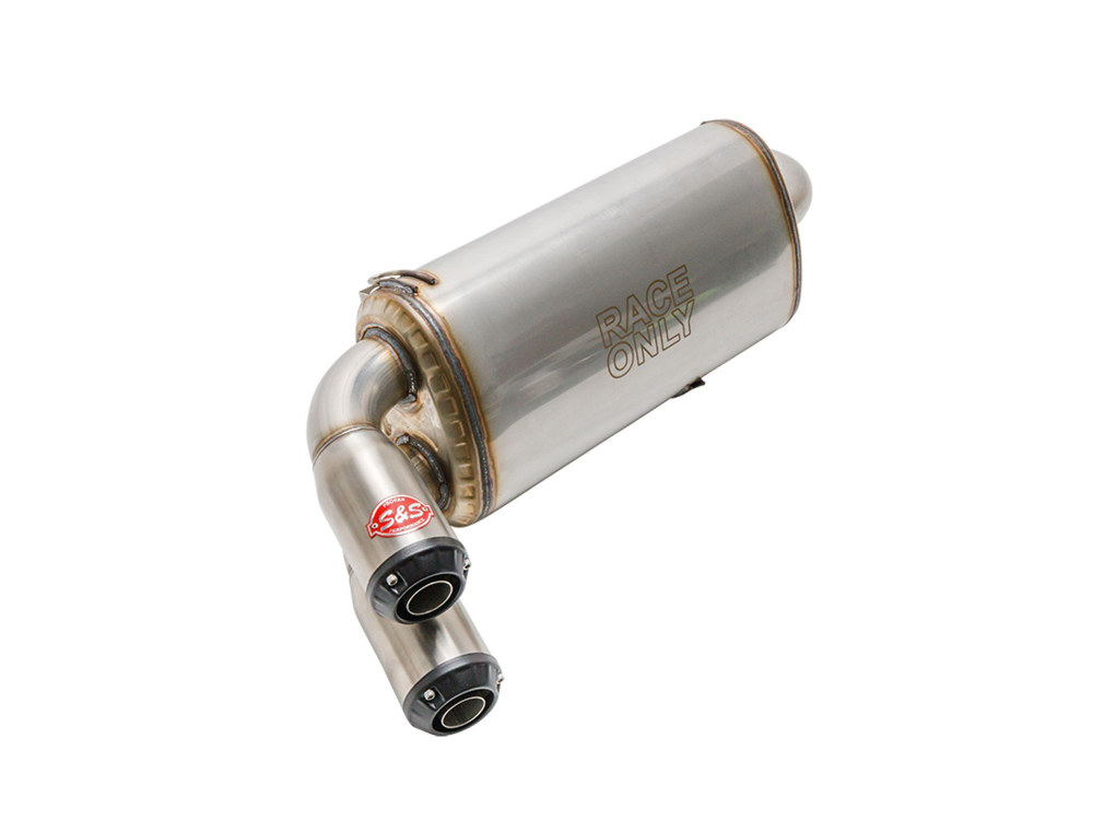 Power Tune XTO Exhaust - Stainless Steel with Race Muffler. Fits Polaris RZR Turbo 2016up.