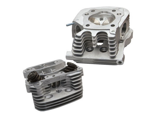 Cylinder Head Kit with Natural Finish. Fits Sportster 1986-2003.