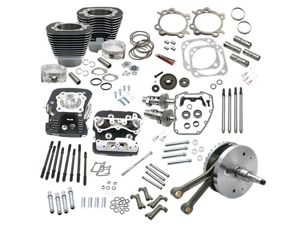124ci Hot Set Up Kit with 91cc S&S Cylinder Heads – Black. Fits Twin Cam 88B Softail 2000-2006.