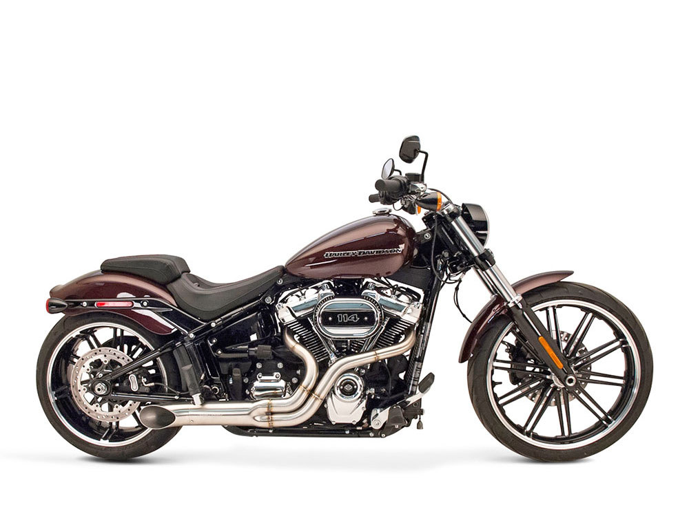 BootLegger 2-into-1 Exhaust with Stainless Steel Finish. Fits Milwaukee-Eight Softail 2018up.