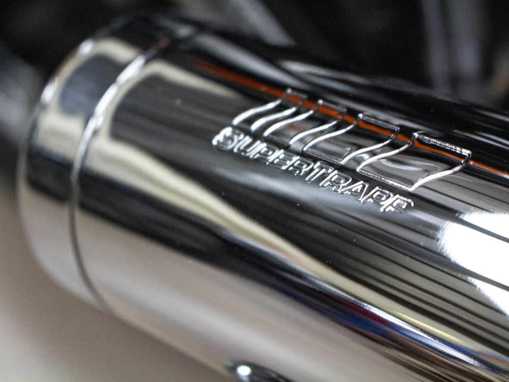 Mean Mothers Exhaust with Chrome Finish. Fits Breakout 2013-2017.