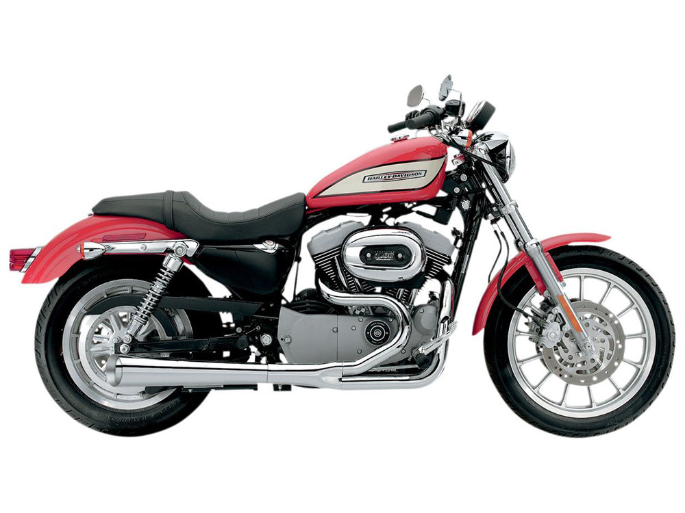 SuperMeg 2-into-1 Exhaust with Chrome Finish. Fits Sportster 2014up.