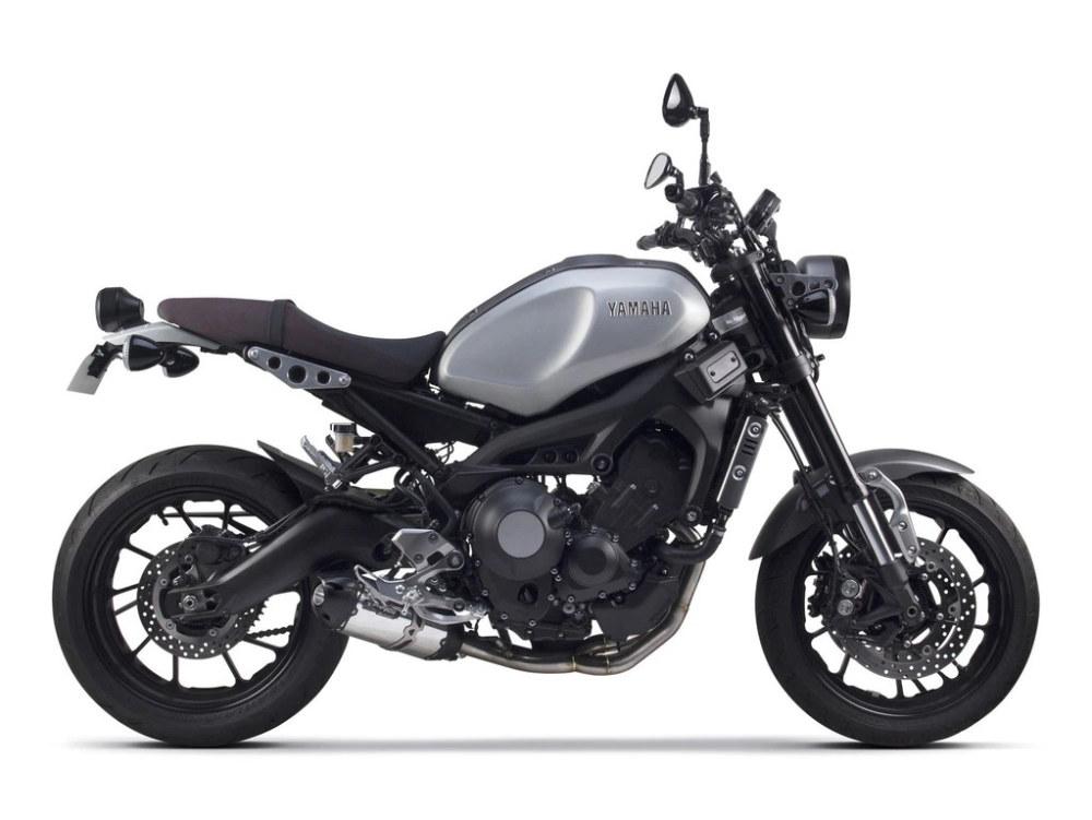 Black & Aluminum Full Exhaust System. Fits Yamaha MT-09, FJ/FZ-09, XSR900 2015up.