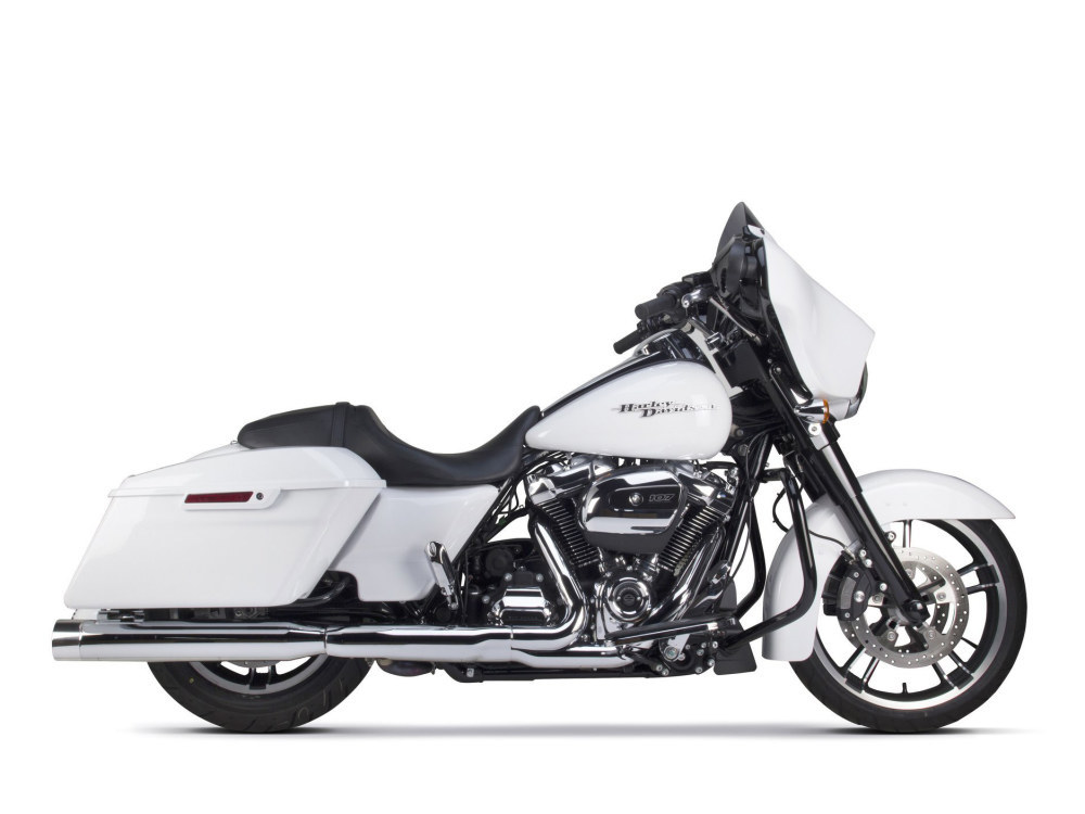 4in. Slip-On Mufflers - Chrome with Polished End Caps. Fits Touring 2017up.
