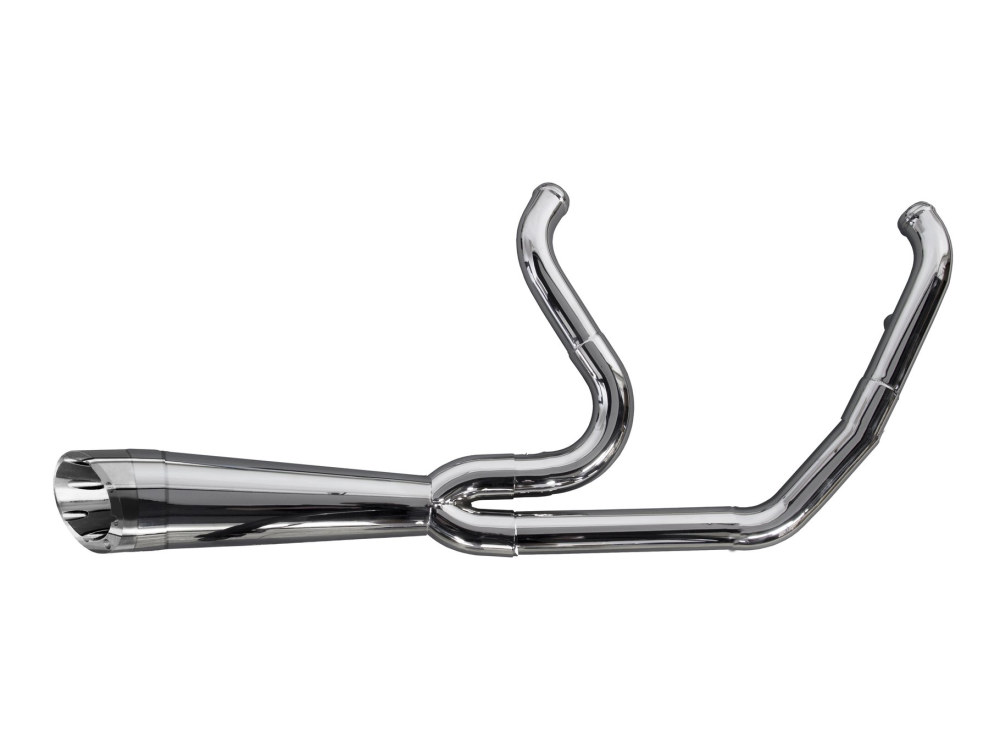 Shorty Turnout 2-into-1 Exhaust - Polished Stainless Steel. Fits Touring 2009-2016.