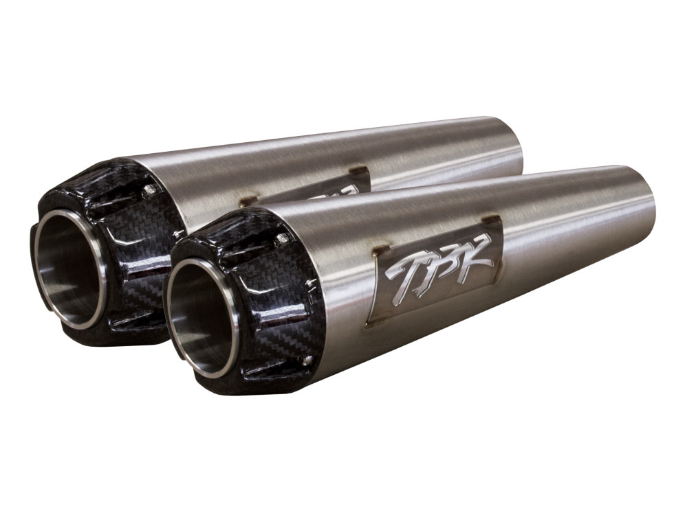 Two Brothers Racing Comp-S Stainless Mufflers suits Softail Fatbob 2018 and later (pair)